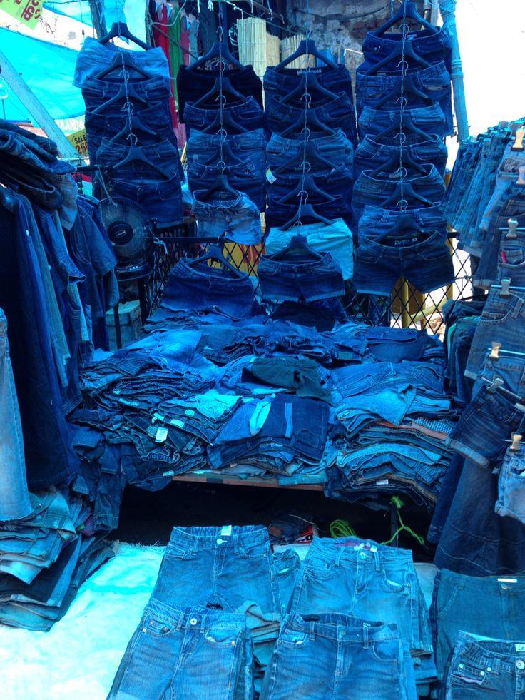 Blue denim hues at the markets in India