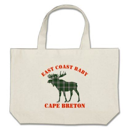 #East Coast Baby moose Cape Breton tartan  tote bag - #Xmas #ChristmasEve Christmas Eve #Christmas #merry #xmas #family #kids #gifts #holidays #Santa
