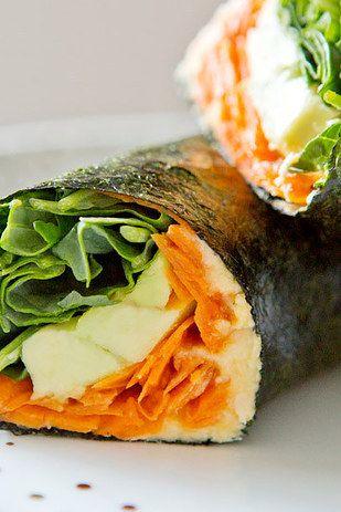 Nori Veggie Wraps | 31 Sandwiches You'll Actually Want To Bring To Work