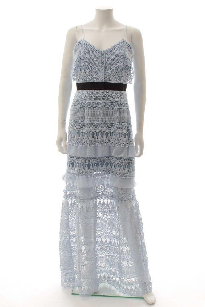677b7ba478b2 Self Portrait Teardrop Guipure Maxi Dress / Sky Blue / RRP: 350.00 #fashion  #clothing #shoes #accessories #womensclothing #dresses (ebay link)