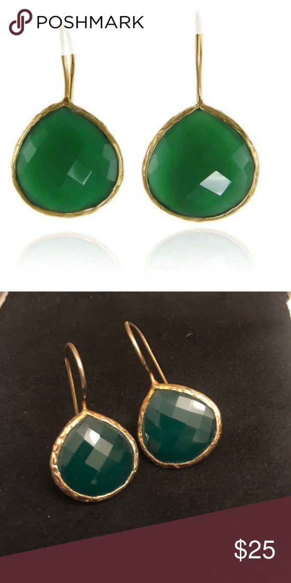 Margaret Elizabeth Green Onyx Drop Earrings Margaret Elizabeth Green Onyx Drop Earrings | worn twice | like NEW Margaret Elizabeth Jewelry Jewelry Earrings