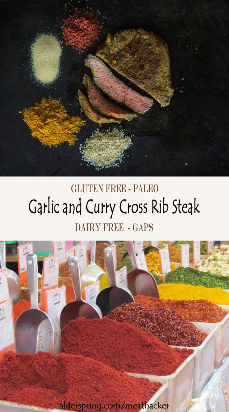 This simple cross rib steak is coated with a flavorful garlic curry rub and then pan fried. You could also grill this steak if you wanted to! Note: You can use a sirloin tip steak, a top sirloin steak, a cross rib steak, or a London broil steak in this recipe. (Gluten Free, Grain Free, GAPS, Paleo, Dairy Free, Egg Free, Soy Free, Nut Free, Refined Sugar Free)