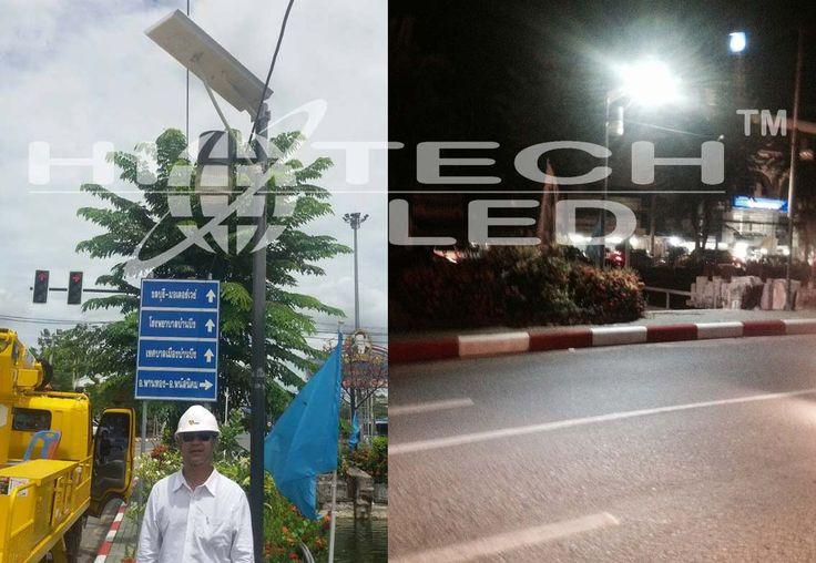Hitechled new generation 30w All-in-one integrated solar LED Street light for Thailand,Luminaria Solar Led, Todo En Uno Panel+Bateria+Led 30w ,Foco Solar para poste Todo en Uno de 30W (Equivale a 300W Incandescente) para Alumbrado Público,lampara solar todo en uno para alumbrado publico. More details please refere to http://www.hitechled.cn/news/30w-integrated-solar-LED-street-light.html