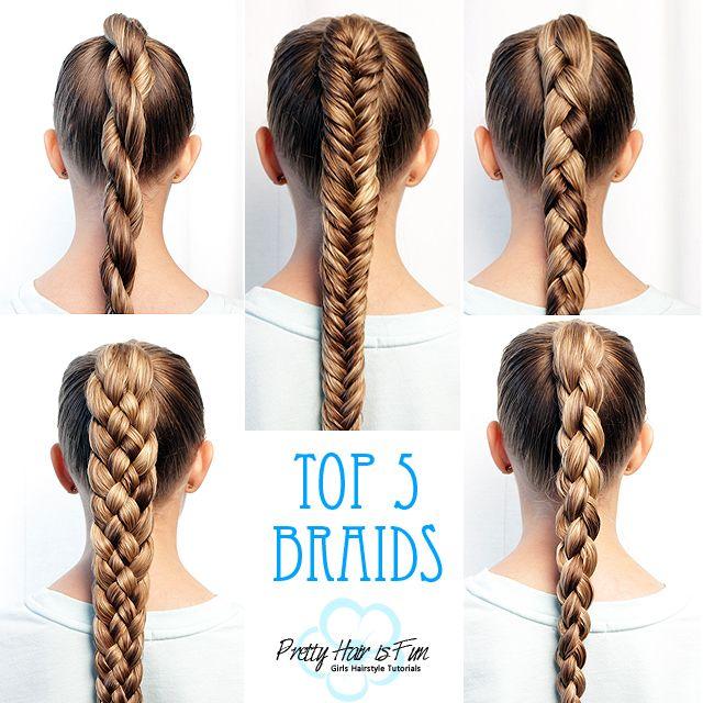 How To Braid For Beginners Top Five Braids Pretty Hair Is Fun Pretty Hairstyles Braided Hairstyles Easy Hair Styles