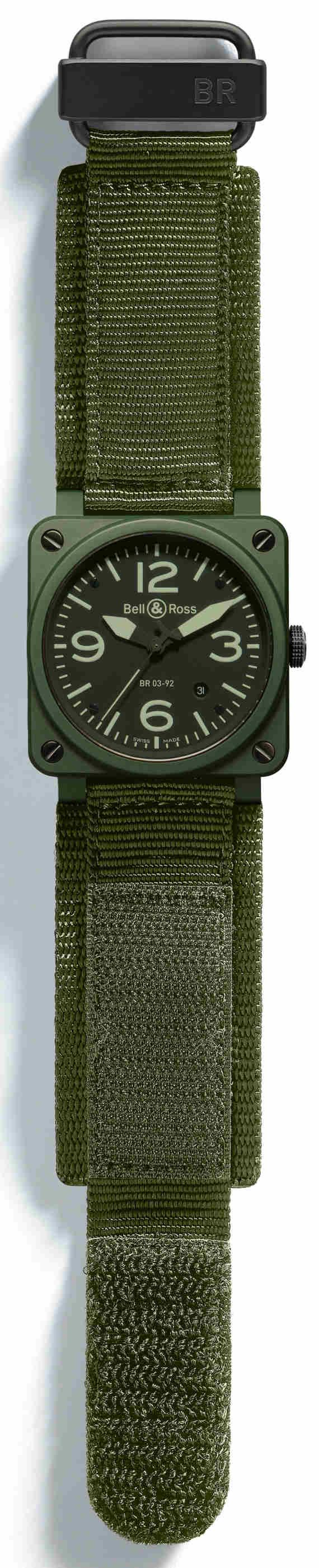 Bell & Ross Instrument BR=£-92 Military Ceramic Watch