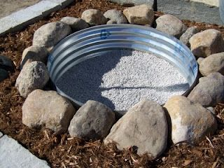 Super easy and cheap fire pit                              …