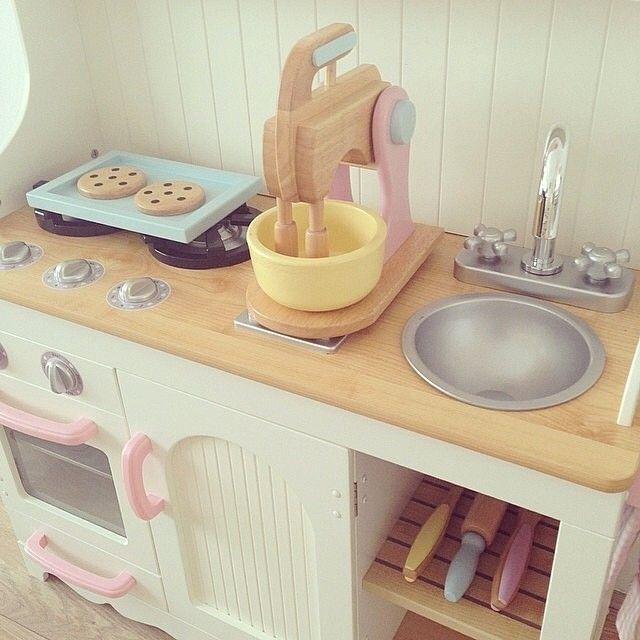 Prairie Kitchen & Pastel Baking Set #kidkraft #playkitchen