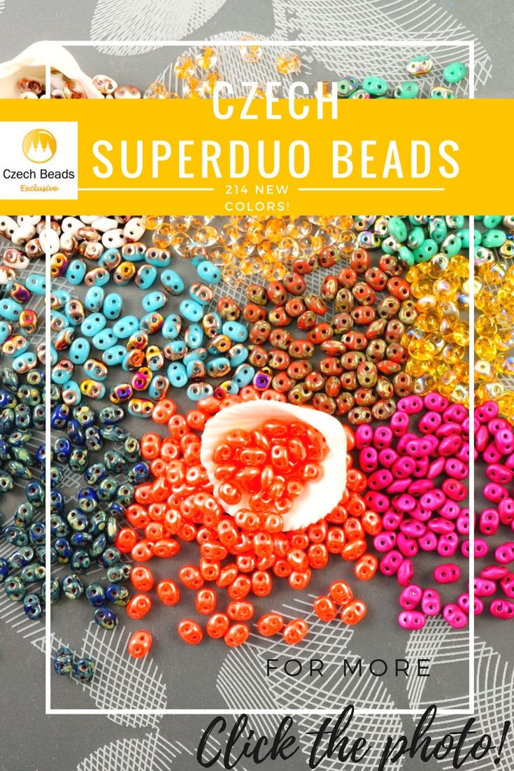 SuperDuo Beads - 214 New Colors Of Czech Glass 2 Two Hole Beads Now In Stock! 214 Colors - Buy now with discount!  Hurry up - sold out very fast! www.CzechBeadsExclusive.com/+superduo SAVE them! ??Lowest price from manufacturer! 1 shipping costs - unlimited order quantity!  Worldwide super fast ?? shipping with tracking number! Get high wholesale discounts! #czechbeds #superduo #dawanda #dawandashop #etsyseller #etsyshop #amazondeals #amazon #etsy