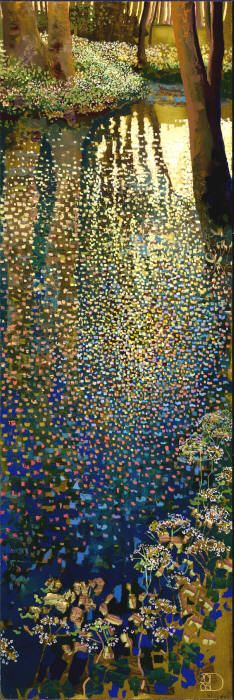 """Early Spring"" - Ton Dubbeldam (47"" x 16"") at the Visions Fine Art Gallery, Sedona, Arizona"