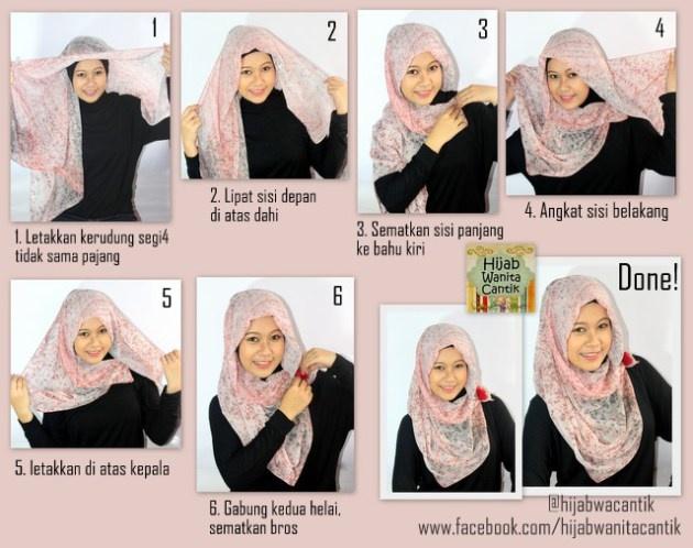 Hijab Tutorial paris segiempat