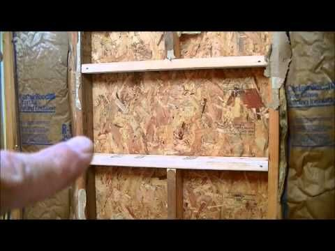 how to build bathroom niche