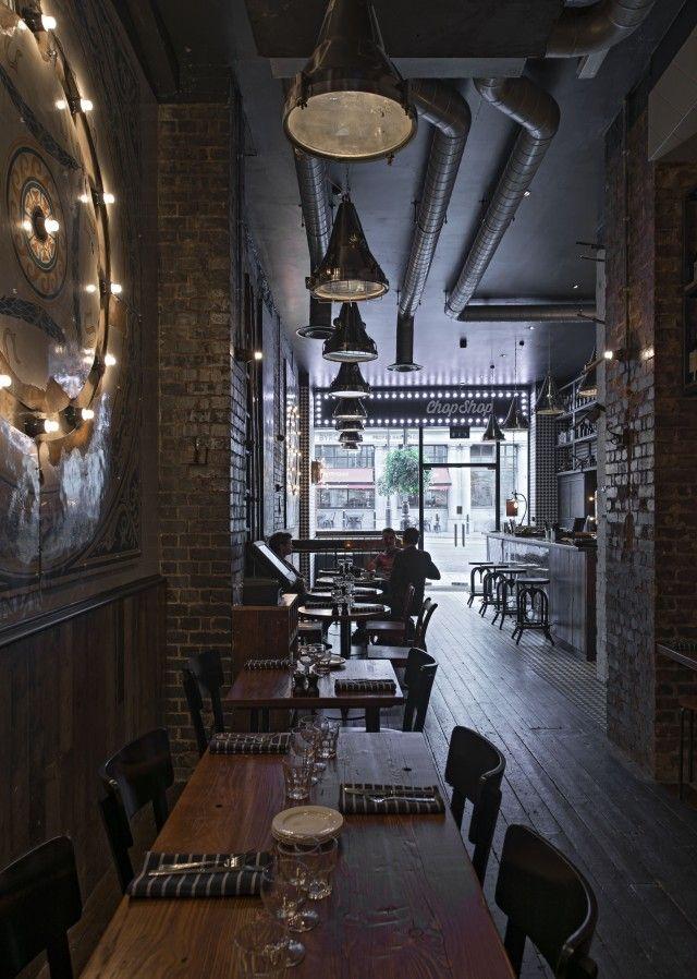 Best industrial chic restaurant design images on