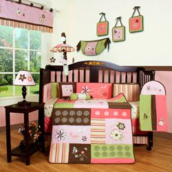 @Overstock.com - Floral Dream 13-piece Crib Bedding Set - Create an inviting and cozy space for the infant girl in your life with this adorable girl crib bedding set by Geeny. The combination of colors and flowers makes the nursery all girl, while the beddings polyester and cotton blend makes cleaning easy.  http://www.overstock.com/Baby/Floral-Dream-13-piece-Crib-Bedding-Set/6803465/product.html?CID=214117 $114.49