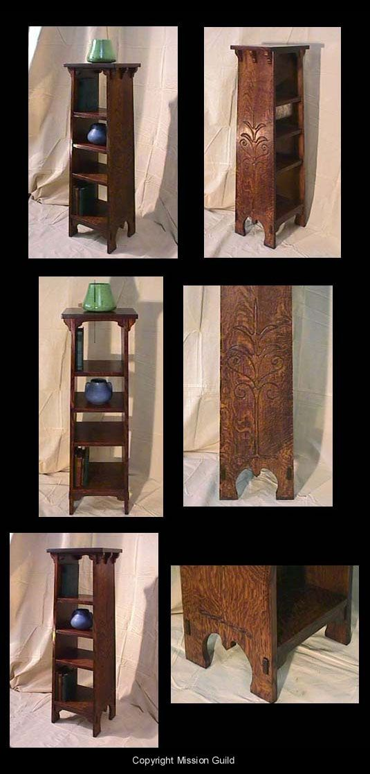 Gustav Stickley Stickley 'Tree of Life' Book and Pottery Stand