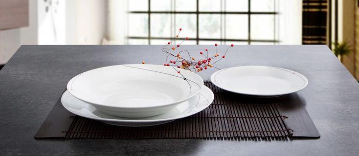 La #vajilla de #porcelana Aretha te sorprenderá. Tiene la belleza de este material y además es extra resistente.