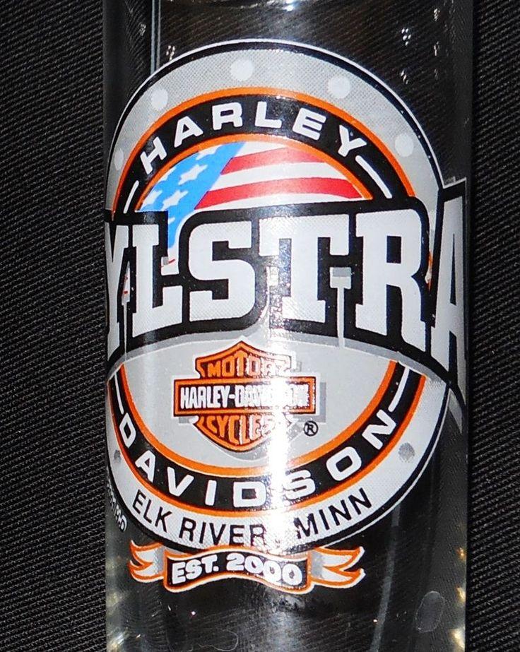 "Harley Davidson Glass Elk River Minnesota Zylstra Motor Cycles 4 1/4"" #harleydavidson"