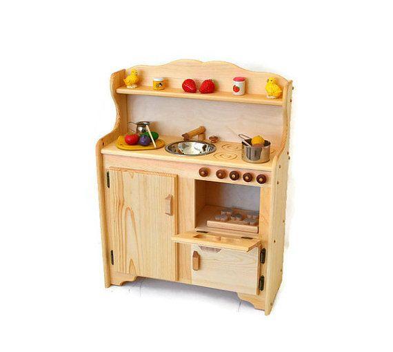 17 Best Ideas About Wooden Toy Kitchen On Pinterest
