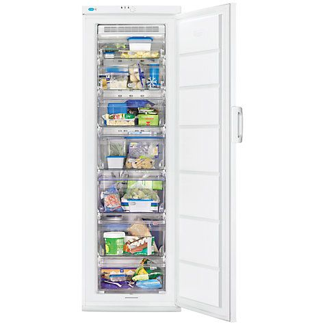 Buy Zanussi ZFU25200WA Tall Freezer, A+ Energy Rating, 60cm Wide, White Online at johnlewis.com £389 for utility room so doesn't need to be integrated 185cm H x 60w x 65.8 deep