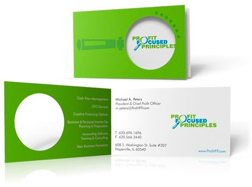 Creative business card for Profit Focused Principles