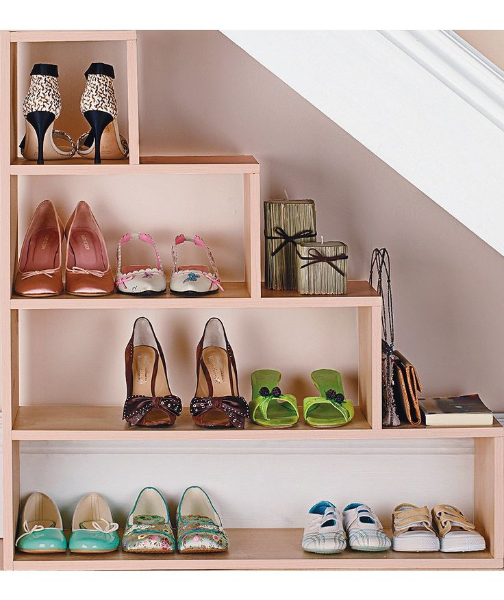 under the stairs shoe storage