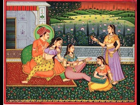 ANCIENT ROMANCE TIME OF MUGHAL EMPIRE 16th CENTURY /Ancient Paintings of...