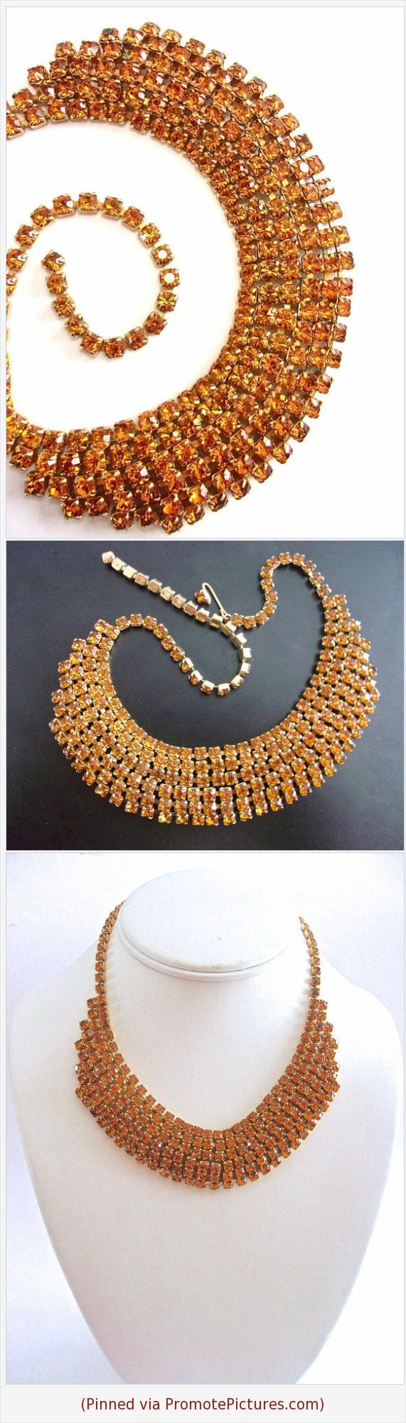 Topaz Rhinestone 6 Row Necklace, Unsigned Weiss, Gold Plated, Vintage #necklace #rhinestones #topaz #wide #6row #unsignedweiss #weiss #goldplate #vintage #glamour https://www.etsy.com/RenaissanceFair/listing/581741640/topaz-rhinestone-6-row-necklace-unsigned?ref=listings_manager_grid  (Pinned using https://PromotePictures.com)