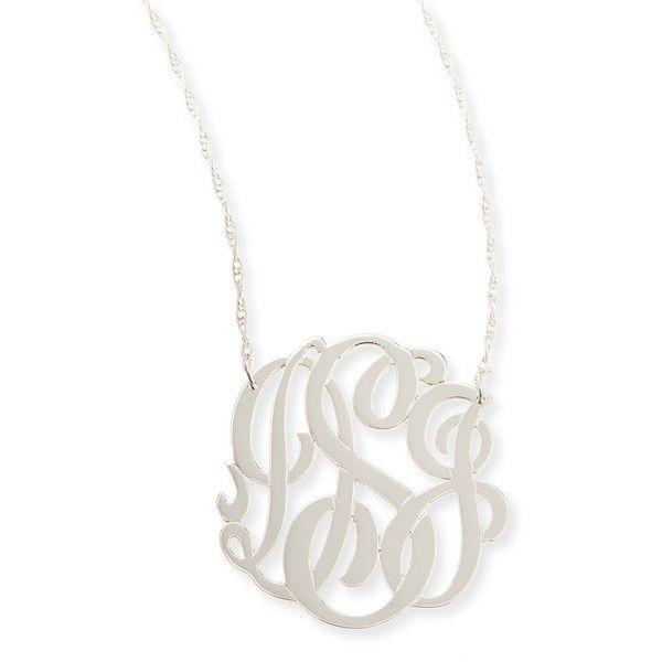 Best 25 monogram necklace silver ideas on pinterest sterling jennifer zeuner silver medium 3 letter monogram necklace 230 liked on polyvore aloadofball Gallery