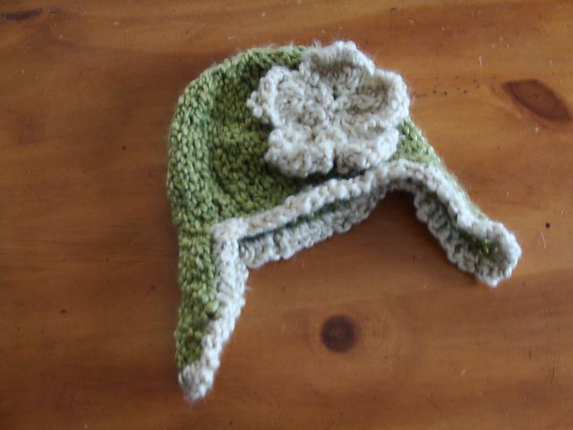Chunky Earflap Hat Crochet Pattern Free : Ravelry: Chunky Baby Ear Flap Hat pattern by Twisted ...