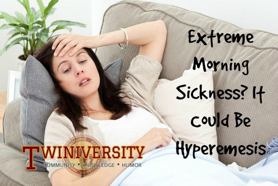 Do you have extreme morning sickness? It could be hyperemesis. A twin mom shares her experience with hyperemesis before giving birth to healthy twin girls.