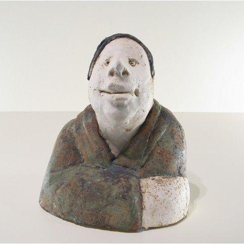 Sjer Jacobs borstbeeld man keramiek - Kunst