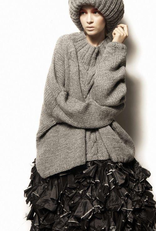 i am not a celebrity, kate mcauley, knit, cocoon, daily style inspiration