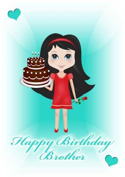 Printable Birthday Card For Brother My Free Printablecardscom Cards Family