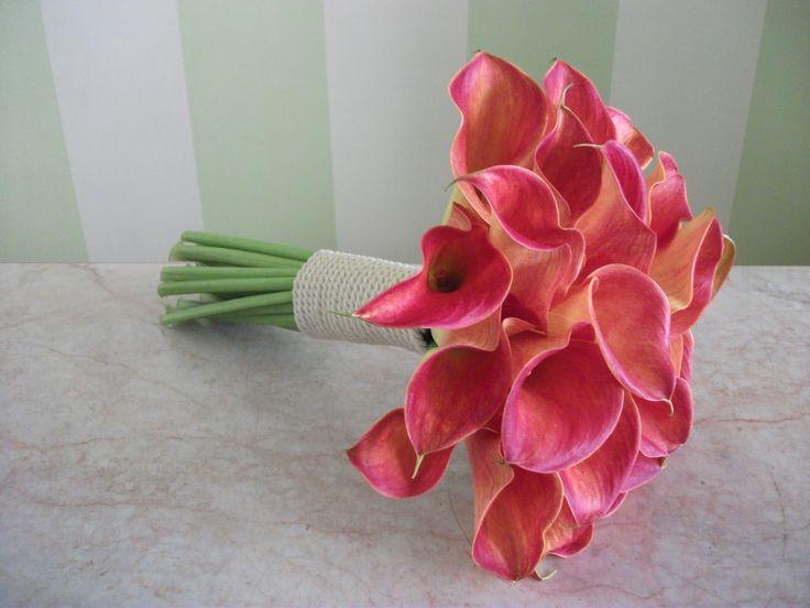 #bridal#bouquet#coral#callas