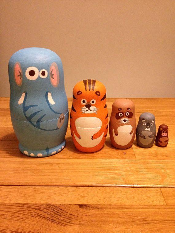 Adorable jeu de poupées Matriochka poupée de nidification Animal Zoo babushka sur Etsy, $87.55 CAD