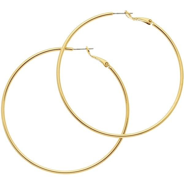 Melissa Odabash Large Hoop Earrings Gold 61 Liked On Polyvore Featuring Jewelry Accessories Yellow E Best In