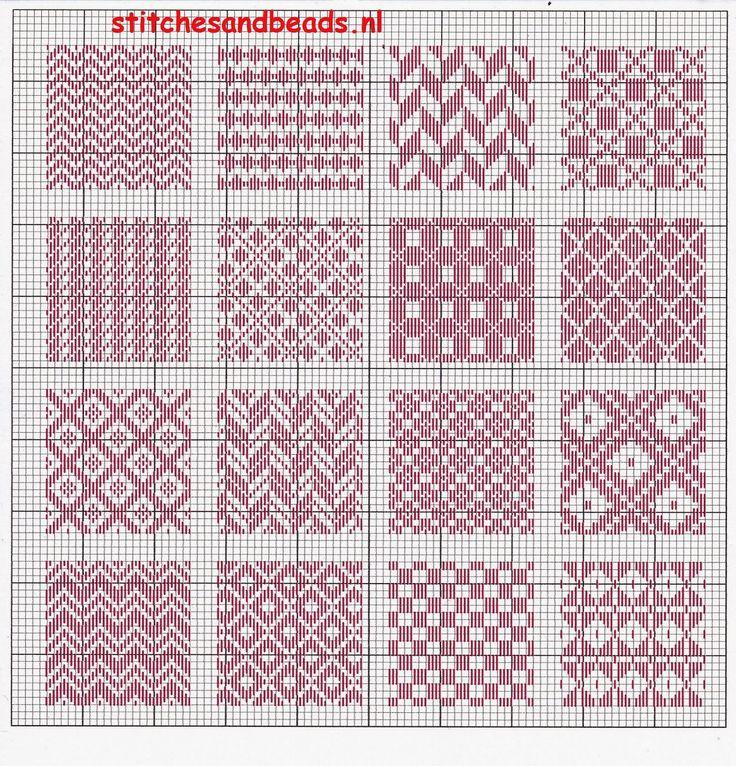 stitches and beads: randje 7 + 8 en een stoplapje