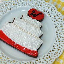 Yellow Kitchen Cookies - Wedding Cake Cookie