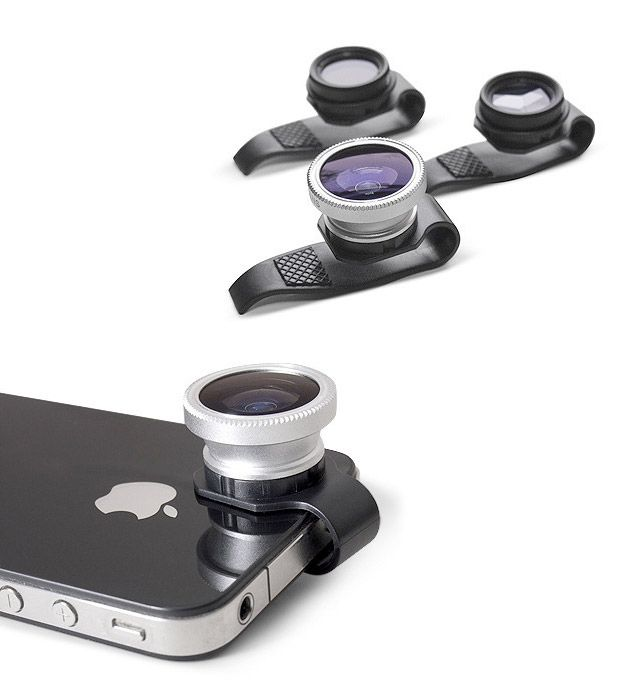 Gizmon Clip-On Lenses. If I ever crossover from Android