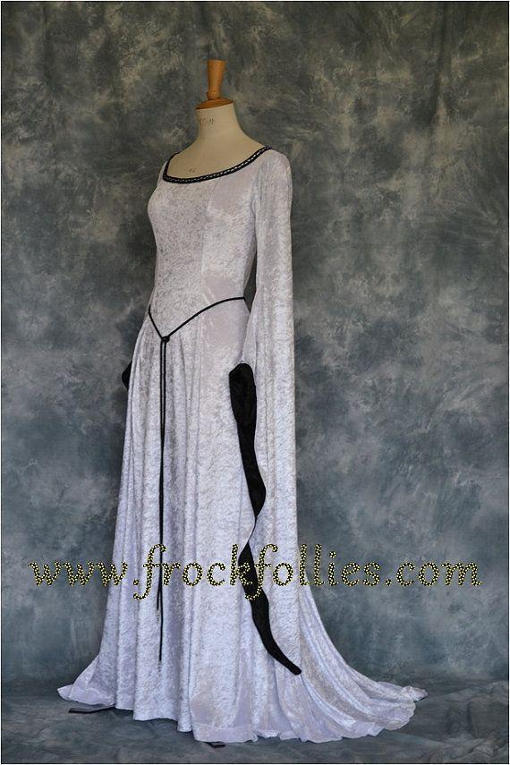 "Medieval handfasting gown, Renaissance gown, Pre- Raphaelite dress, robe medievale, elvish gown, pagan wedding dress, ""Freya"""