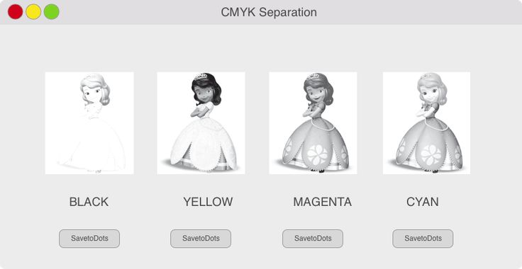 CMYK Color Separation Tool for Screen Printers