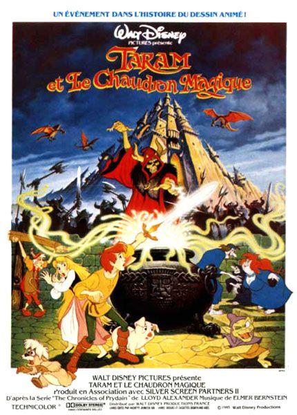 Affiche du dessin animé Taram et le Chaudron Magique sortie en 1985