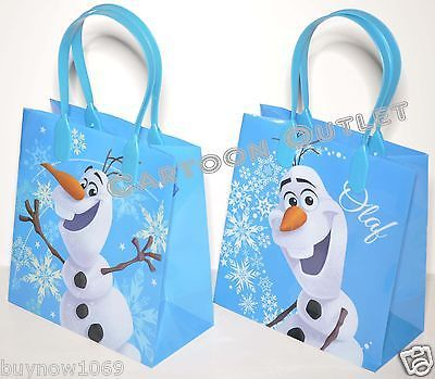 12PCS DISNEY FROZEN CANDY BAGS LOOT/GOODIE PARTY FAVORS GIFTS OLAF BLUE BAGS !!!