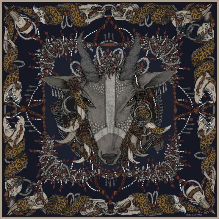 Mursi - Original luxury scarf design. - Sabina Savage