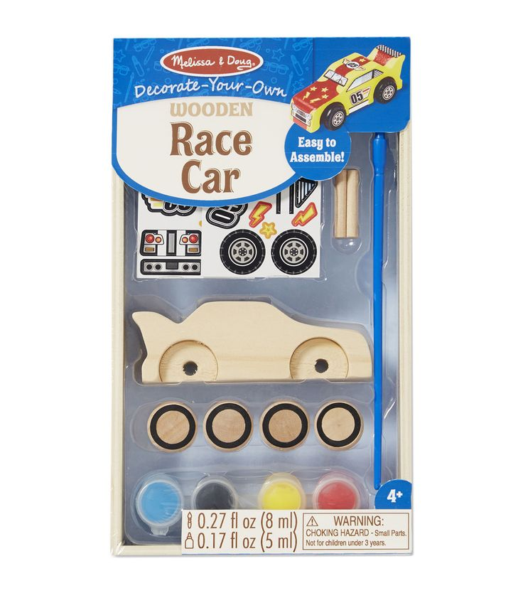 melissa doug decorate your own wooden kit race car