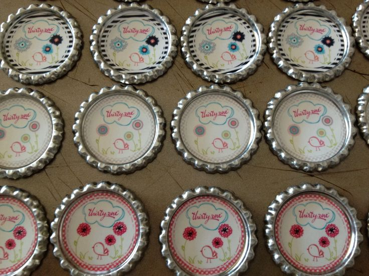 MY customers love getting these at home parties! I love making them! (Magnets and keychains)