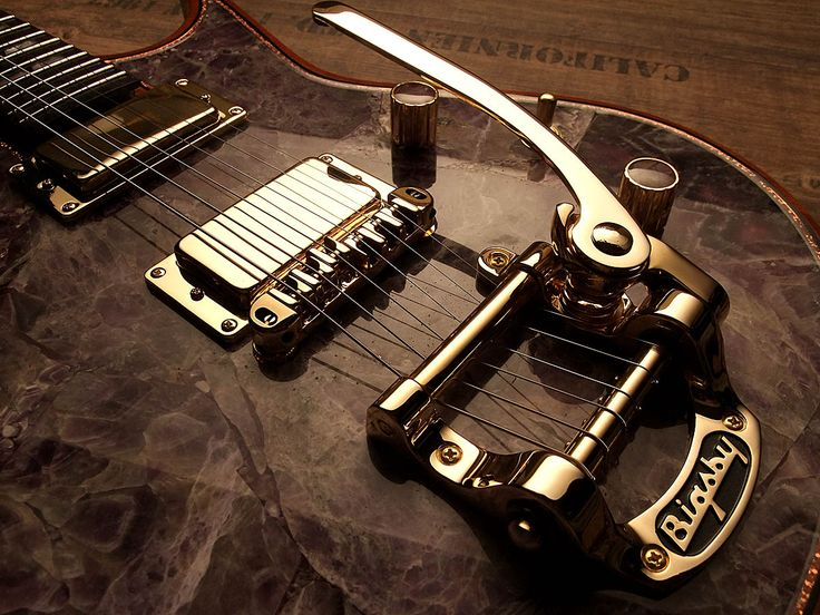 Zerberus-Guitars Chronos with real Amethyst Gemstone top. www.zerberus-guit... #guitar