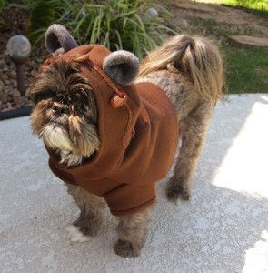 Handmade Star Wars Ewok Dog Pet Cosplay Costume
