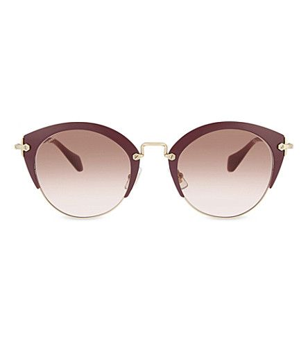 MIU MIU Bordeaux phantos 53rs cat-eye frame sunglasses