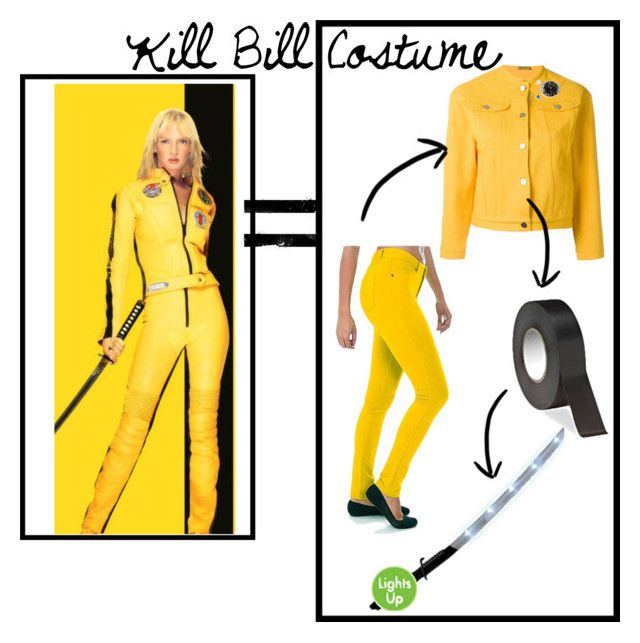 """Kill Bill Halloween Costume"" by sweatinstyle ❤ liked on Polyvore featuring Peter Jensen, Halloween, killbill and halloweenlook"