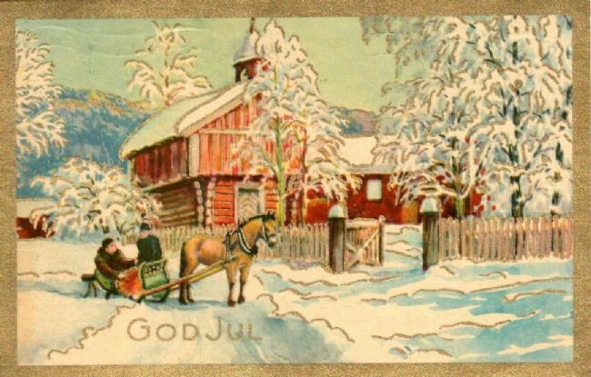 Get Into the Spirit of Christmas with Old Norwegian Christmas Cards – ThorNews